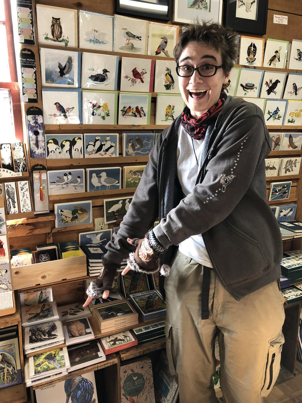 Bird Watcher's General Store sells my cards!