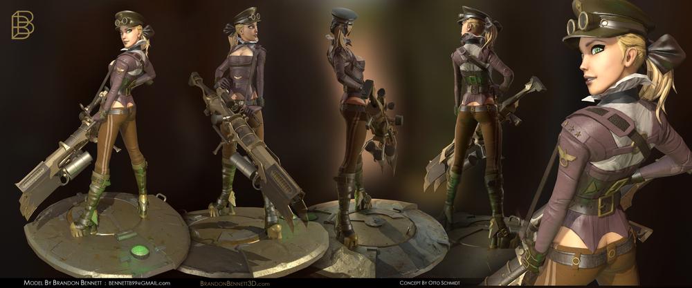 Steampunk Girl : 40K Tris.
