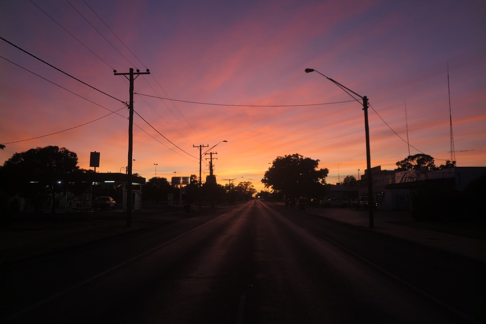Sunrise in Coonamble, NSW. Desert skies really are unbeatable.