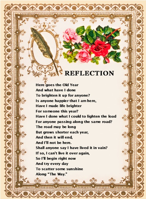 how to write a poetry reflection