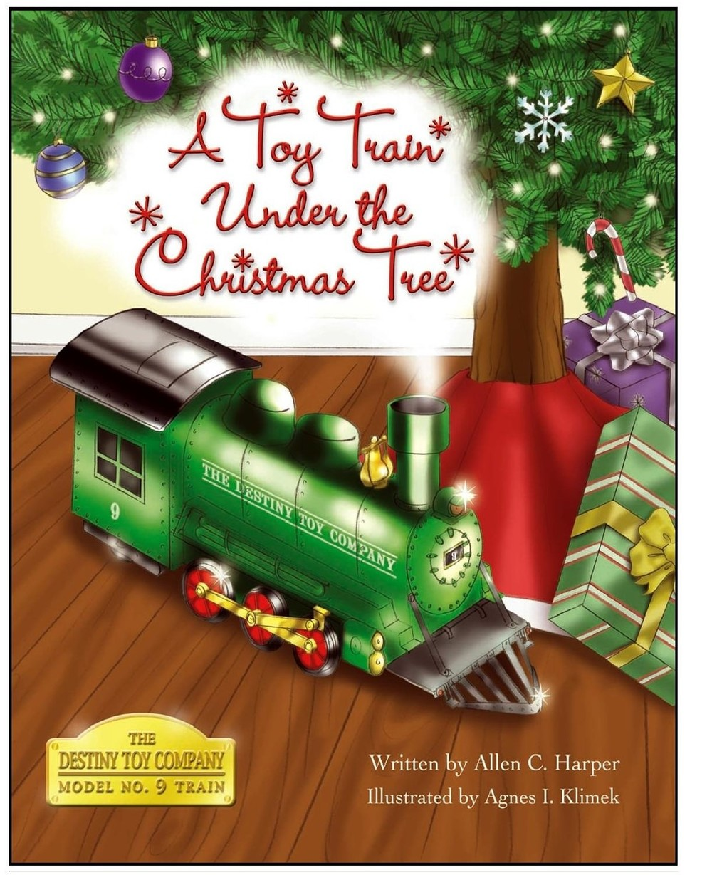 A Toy Train Under The Christmas Tree.jpg