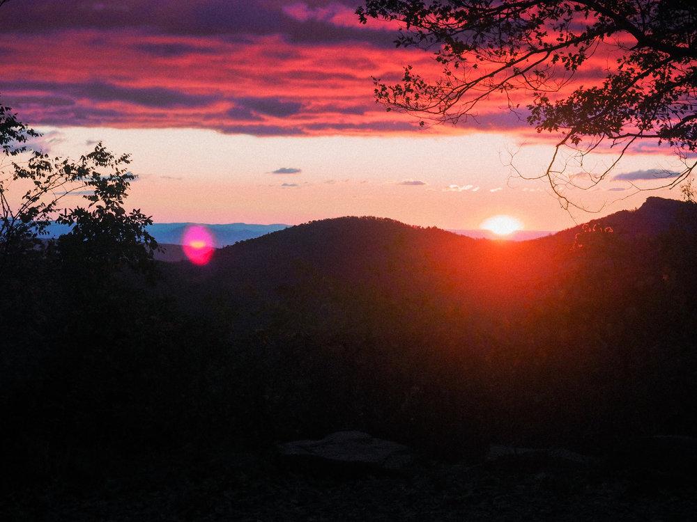 Sunrise. Linville Gorge, NC.