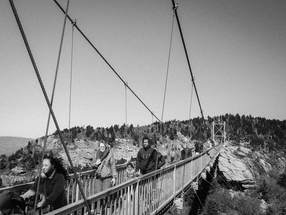 Suspension Bridge. Grandfather Mountain, NC.