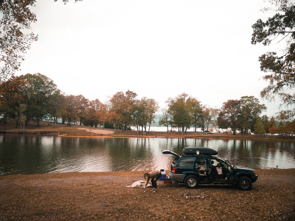 Another night sleeping in the truck. Rhea Springs Recreation Area on the Watts Bar Reservoir in Spring City, TN.