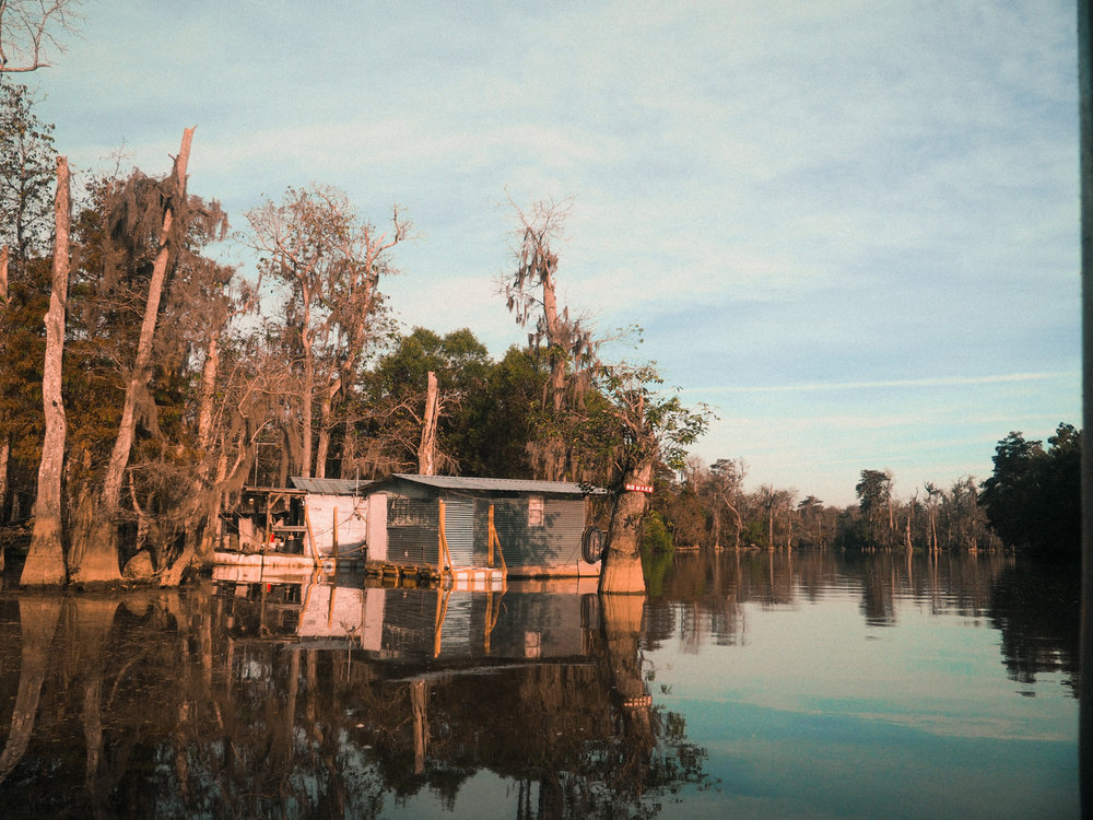 Fishing / trapping shack on the Old Pearl River. Slidell, LA.