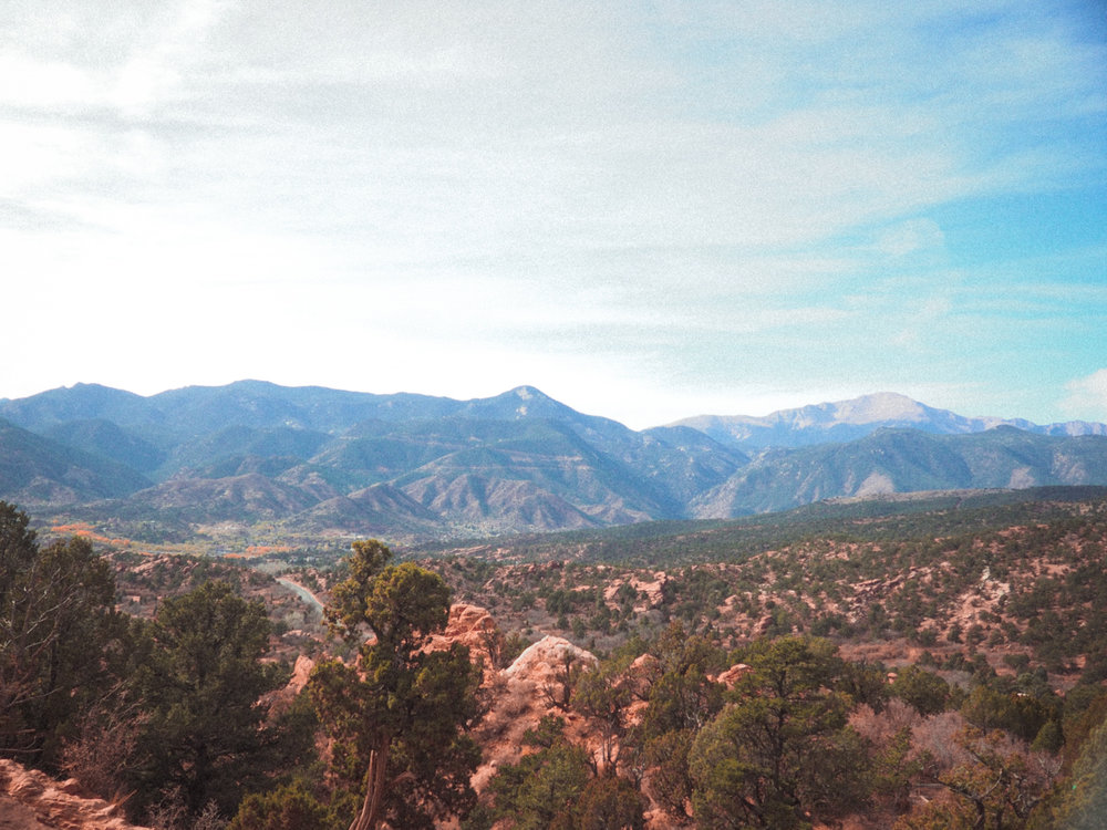View from Garden of the Gods in Colorado Springs, CO.