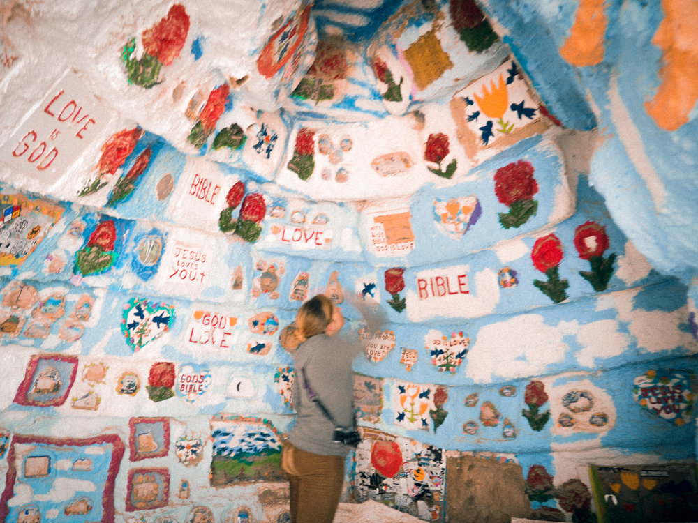 Salvation Mountain outside of Slab City, CA.