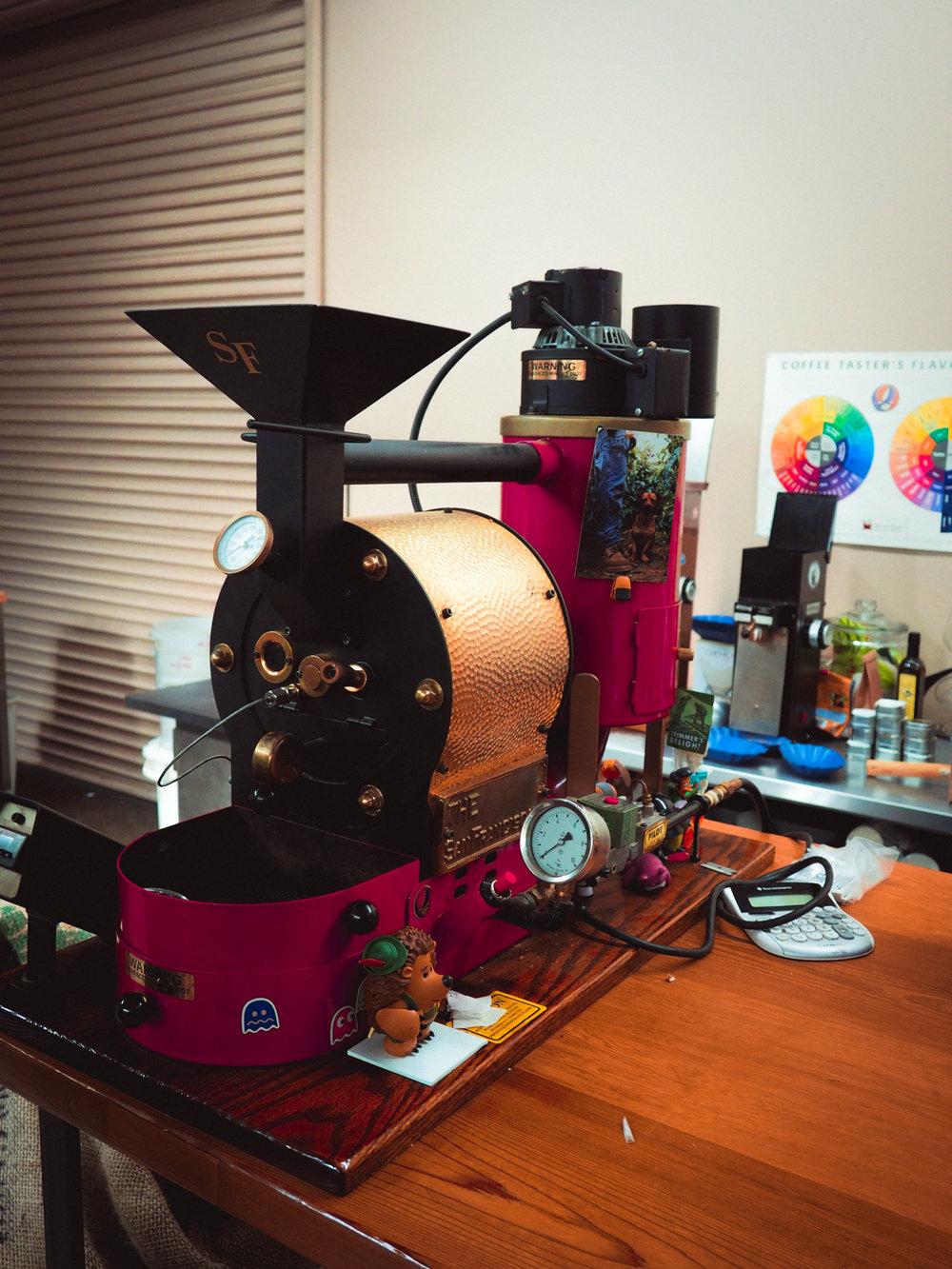Northbound's San Franciscan 1LB sample roaster.