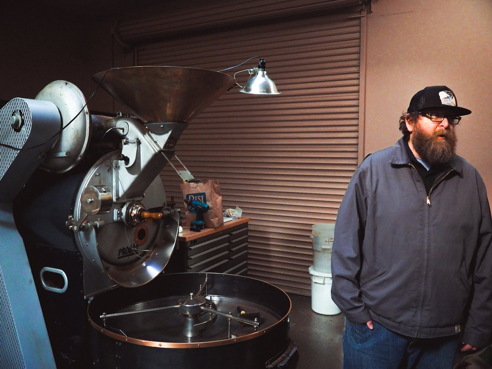 Owner Keith Hamrick tells the story of their 15 kilo 1956 Probat roaster.