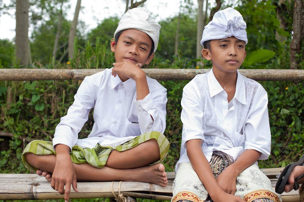 Young Balinese boys in ceremonial wear | Bali