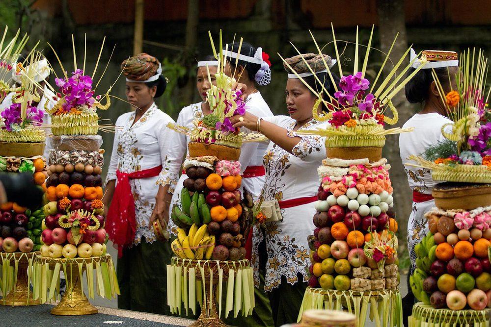 Towering offerings | Ubud, Bali