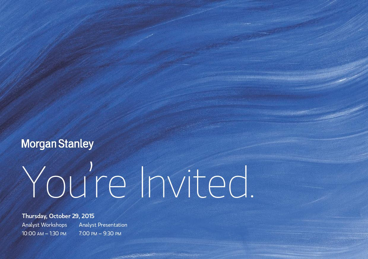 Morgan Stanley Asia Workshop and Networking — MIT Asian Club