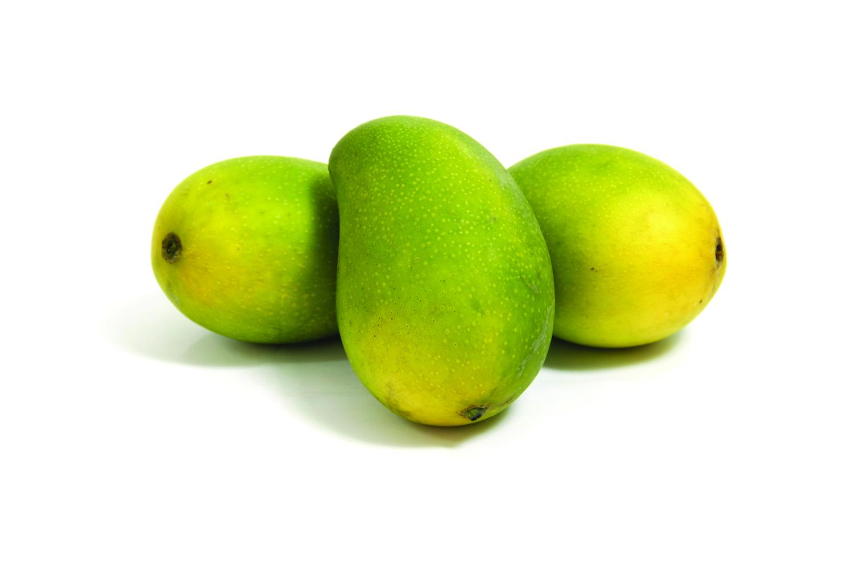 What causes green, ripe mangoe...