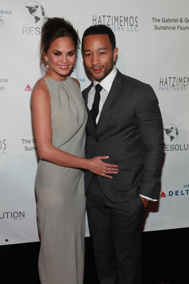 John Legend and Chrissy Teigen, Fundraiser Gala, The Harvard Club, New York, NY