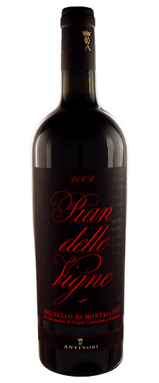 Antinori Brunello - $100      Long aftertaste of dark cherries, dried herbs, earthy cedar characters, some leather and spice.