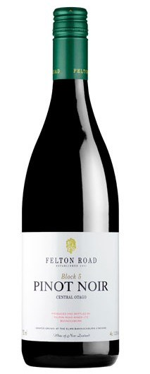 Felton Road, 2012 Block 5 Pinot Noir $100     Single Vineyard Central otago pinot noir From our own personal cellar.