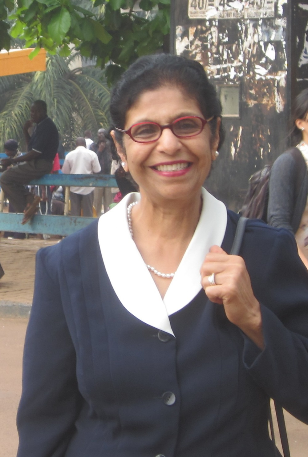 Dilshad at Makarere University in Kampala, Uganda