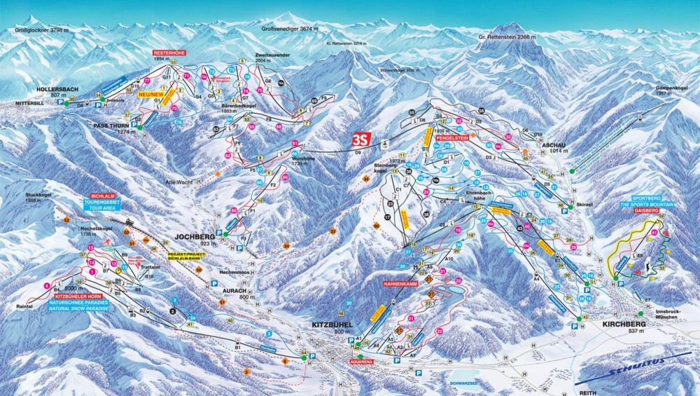 Kitzbühel Piste Map