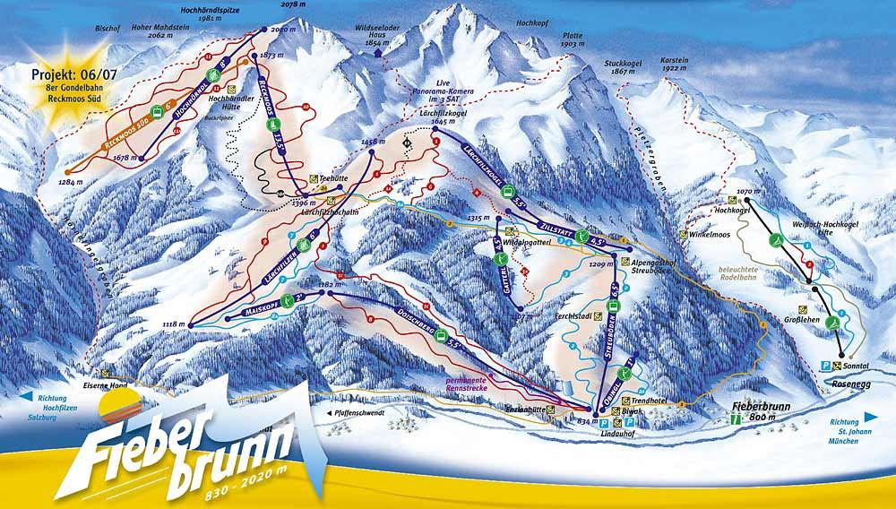 Fiberbrunn Piste Map