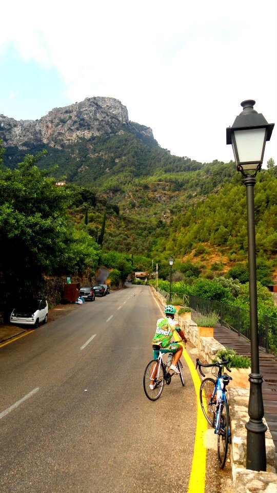 Cycling in Valdemossa, Mallorca, Spain