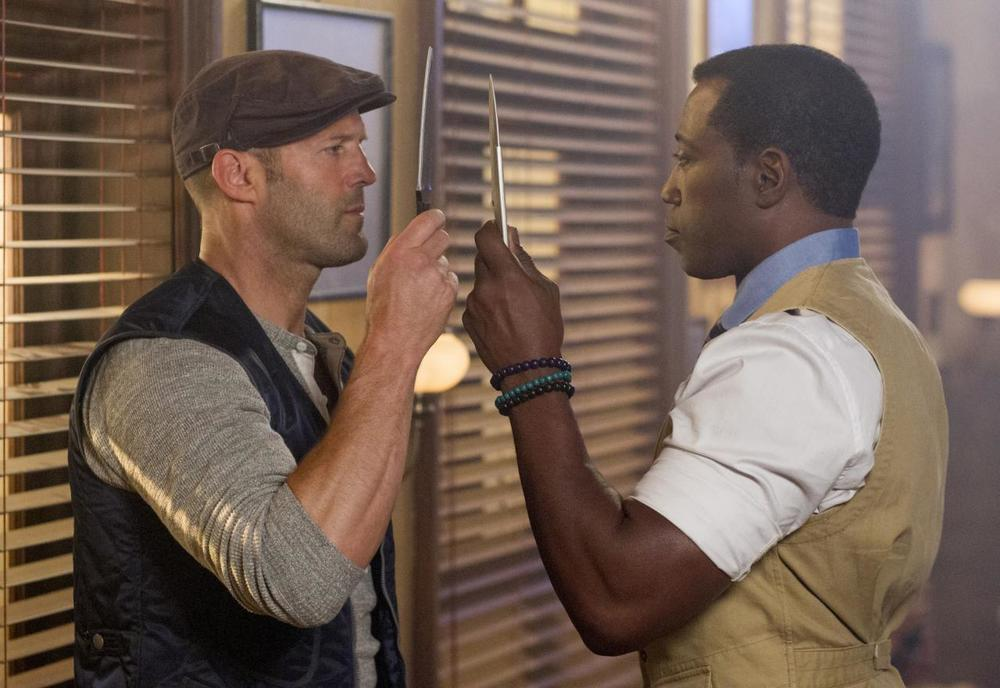 The Expendables 3  (2014): Jason Statham and Wesley Snipes in a MasterChef showdown.