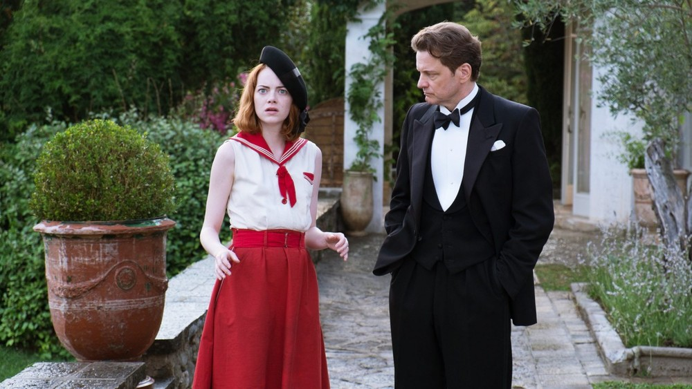 Magic in the Moonlight  (2014): Emma Stone and Colin Firth.