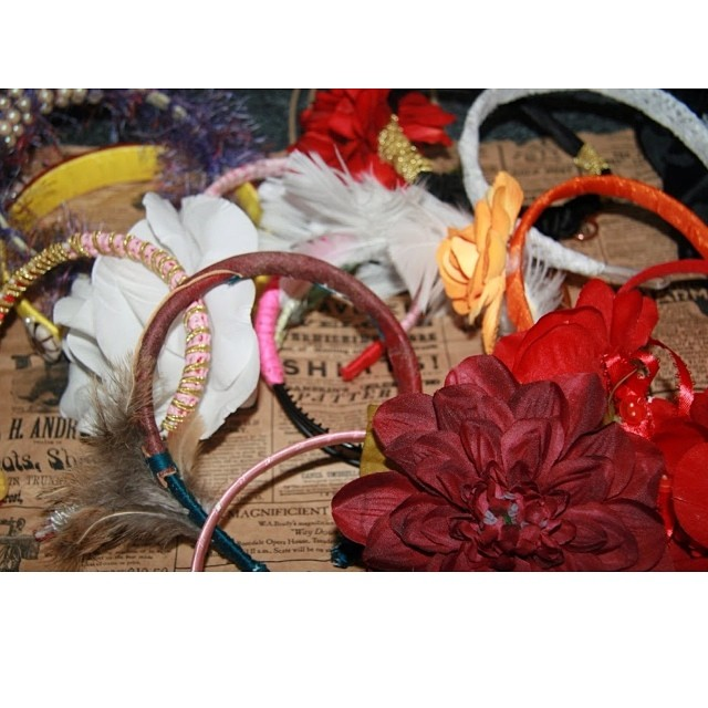 Charmed Feathers very first creations, handcrafted in 2009. #charmedfeathers #headbands #tt #rebekahchristie #flowers #aotd #flowerheadband #colors #feathers #throwbackthursday