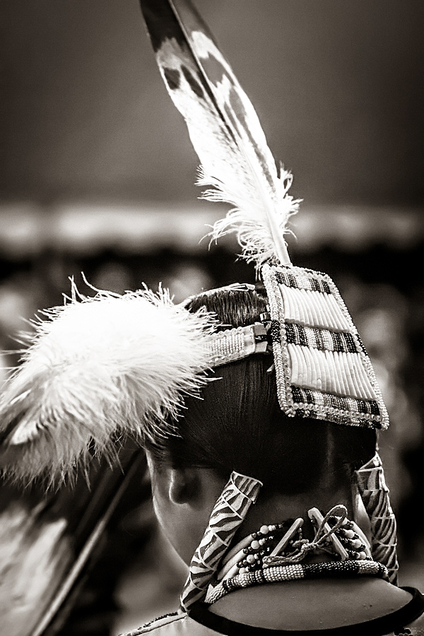 zarah-abraham :     A Contestant's regalia glimmers with nobility during the 44th Annual Western Navajo Fair's Pow Wow in Tuba City, Arizona.