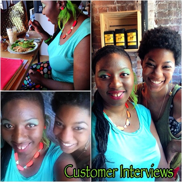 We're so excited to conduct our first customer interview with @merazh. It was a pleasure and we're honored to be able to learn, connect, but more importantly grow with our customers. Thank you again, you were a great help. #customerdevelopment #woc #interviews #charmedfeathers #womeninbuisiness #support #brunswick #cafe #brooklynites (at Brunswick Cafe)