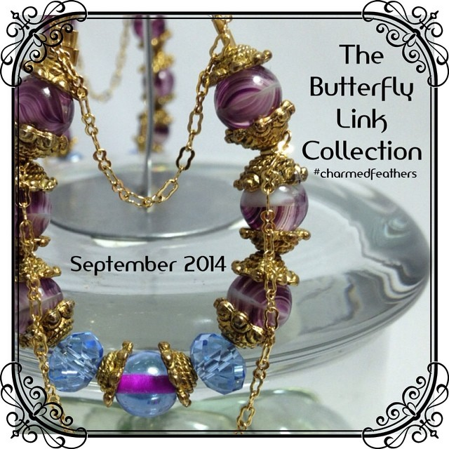 """Stay tuned for """"The Butterfly Link"""" Collection, which will be available for purchase September 2014. #charmedfeathers #newcollection #thebutterflylinkcollection #new #jewelrycollection #fallcollection"""
