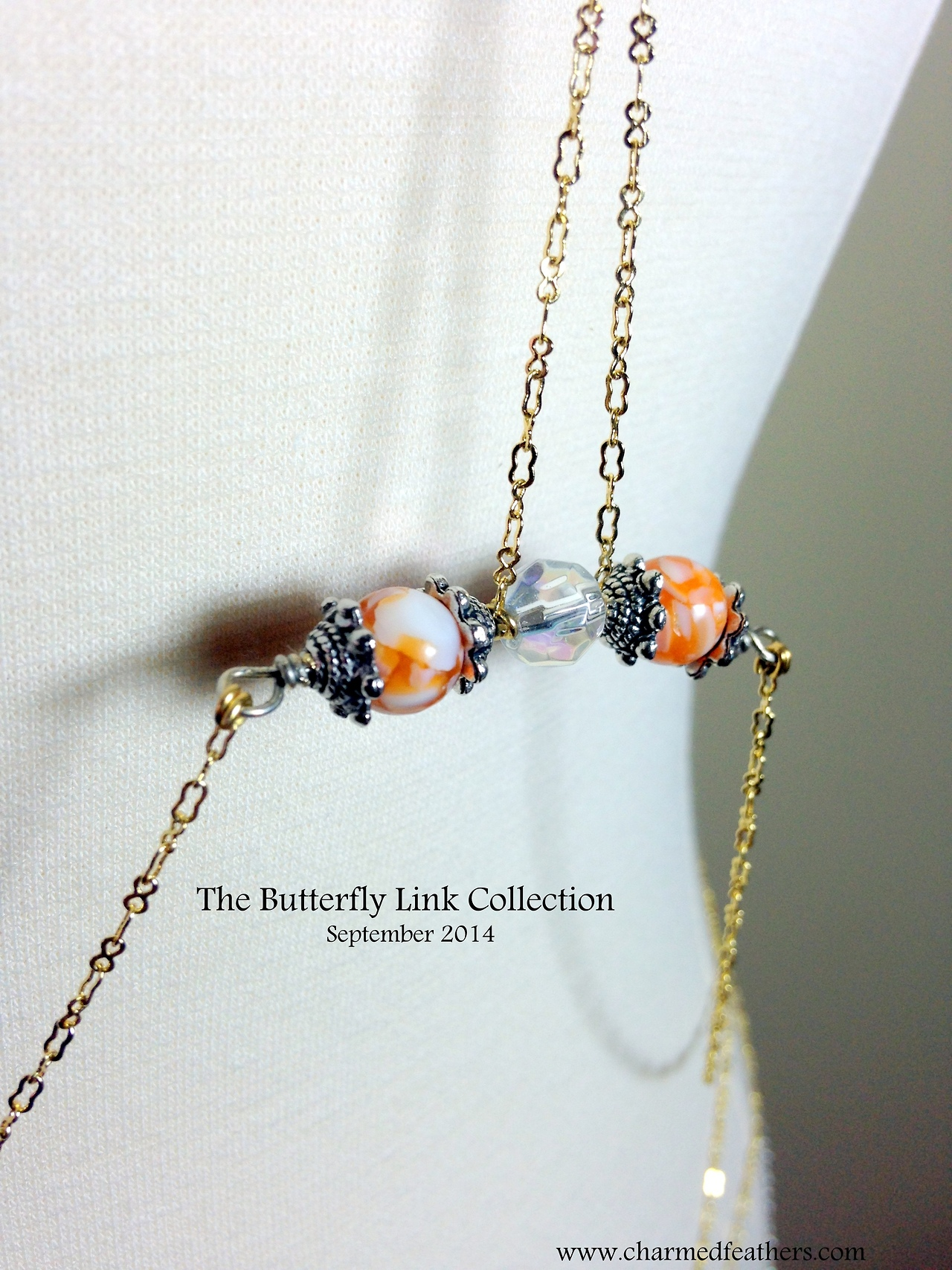 The Butterfly Link is a 3 in one body chain.