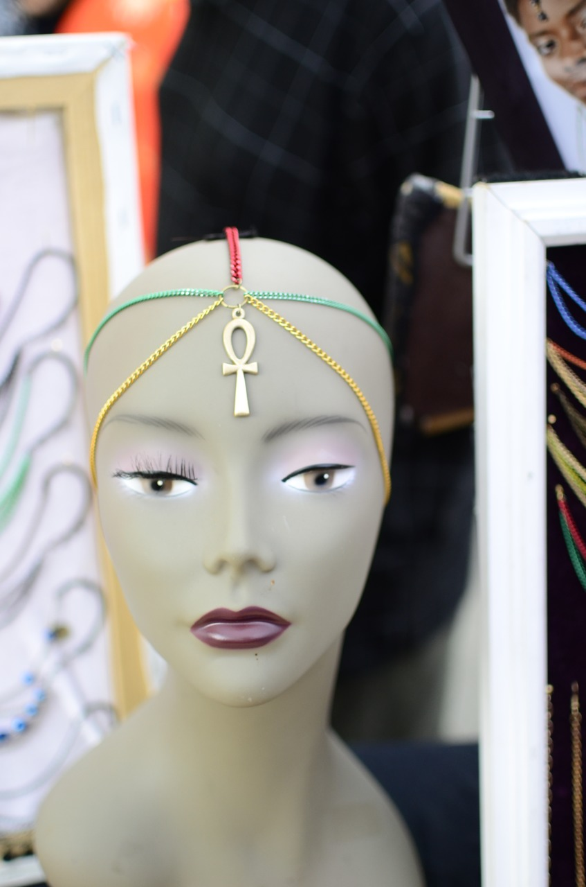 onsexualpaper :     At BAM Dance Africa in 2012 . I loved these head chains, made to compliment my baldie mostly.