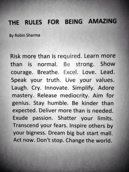 iamcsquared: Rules for Being Freaking Amazing