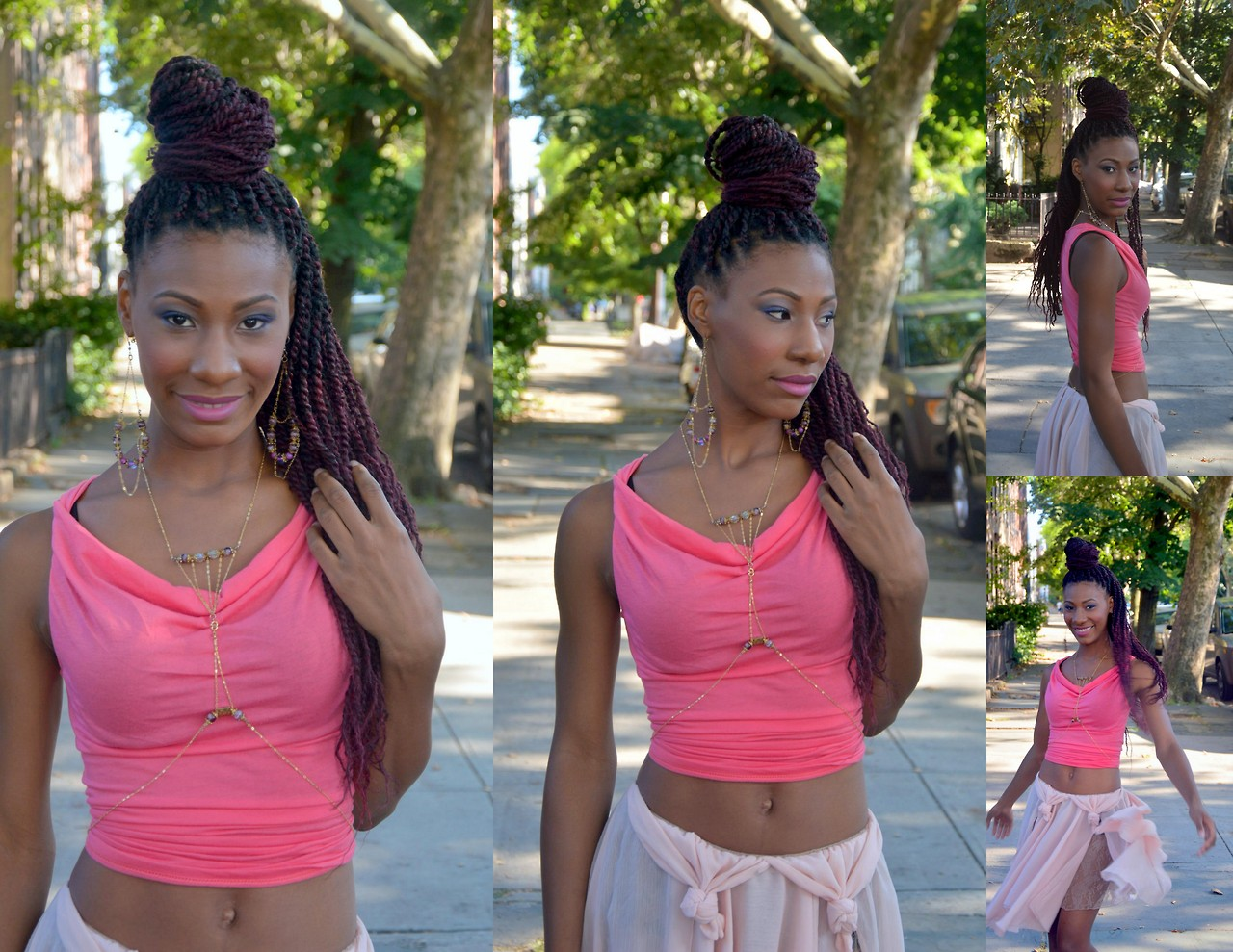 """""""The Sisters"""" modeling the Spring/Summer 2015 collection """"The Butterfly Link'      Photos by Delilah Peach Williams."""