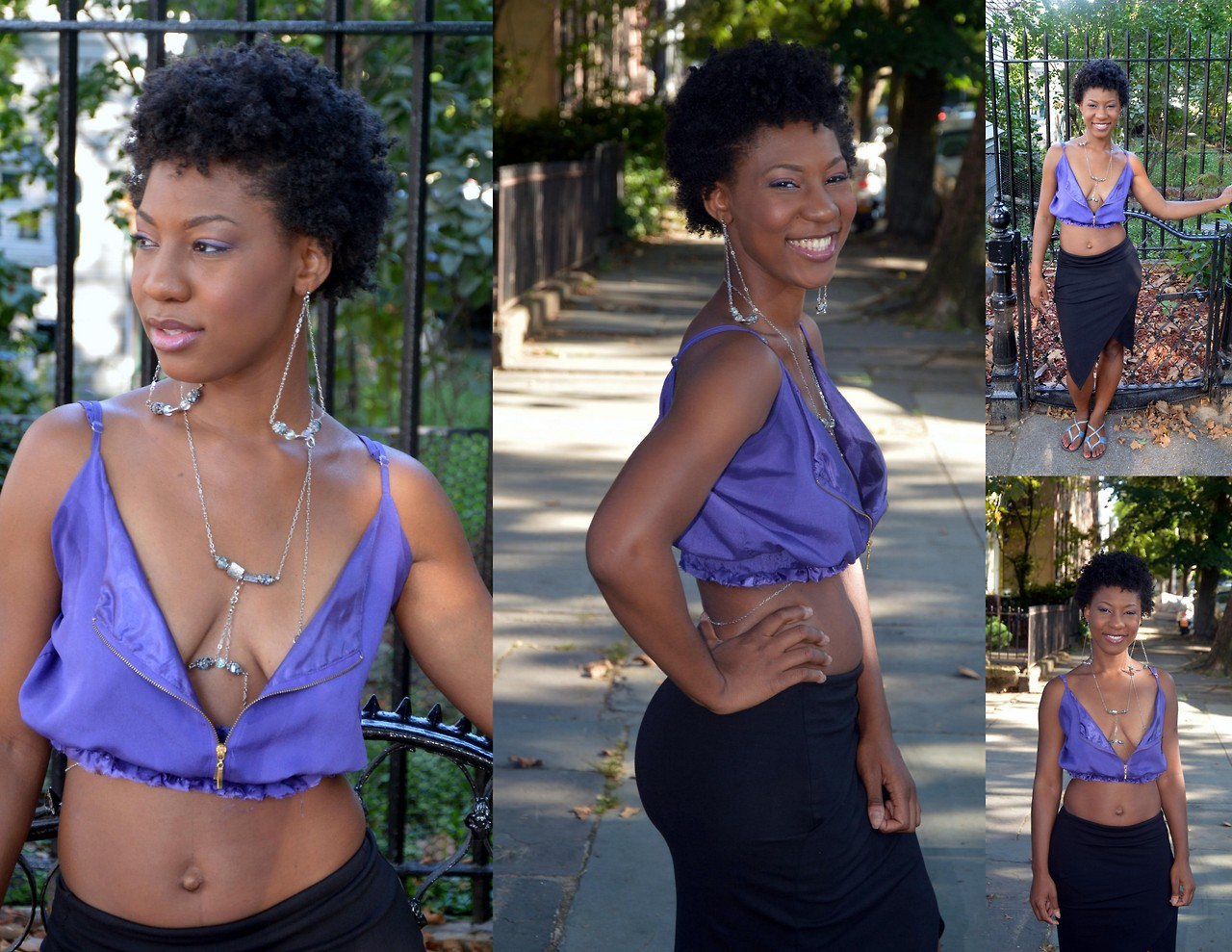 Designer Rebekah Christie wearing jewelry from The Butterfly Link Collection. Photos by Delilah Williams.