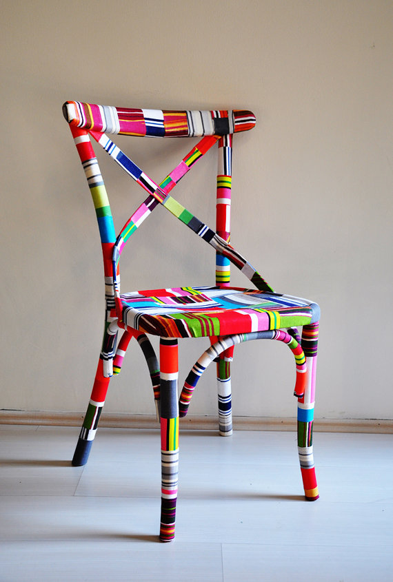 etsygoodies :     (via  4 x colorful Thonet dining chairs custom order by namedesignstudio )