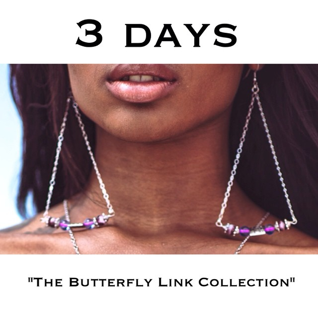 And the countdown begins. Good morning 💋 #thebutterflylink #charmedfeathers #newwebsite #newcollection #release #earrings