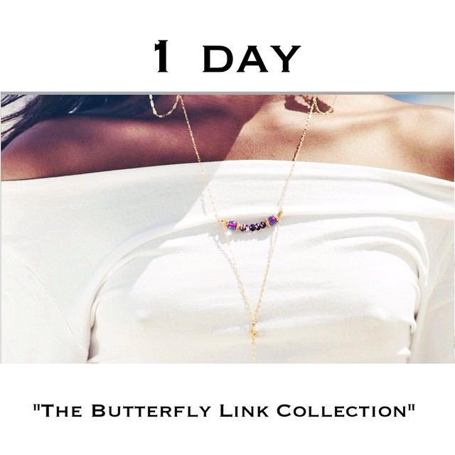 """Get ready for tomorrow. Its the release of Charmed Feathers new website and first collection """"The Butterfly Link"""". #sensitiveaboutmyshit #charmedfeathers #countdown #thebutterflylink #newwebsite #thebutterflylinkcollection"""
