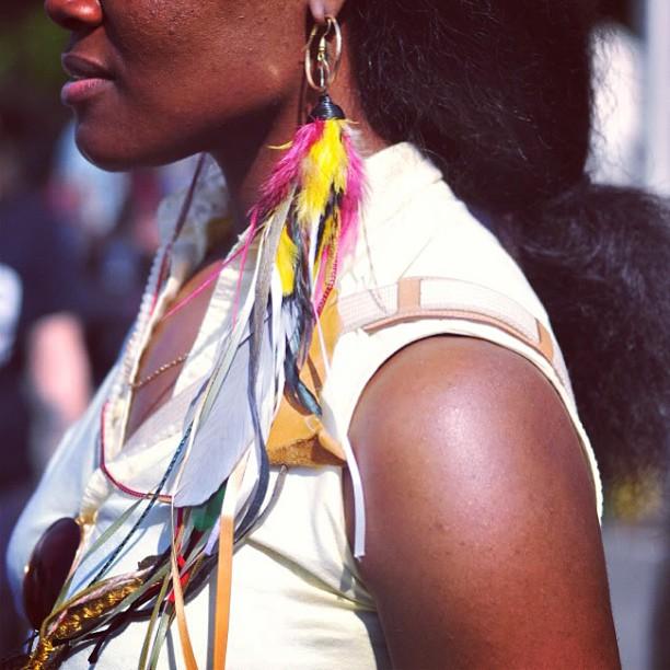 Feathers Galore #BAM #brooklyn #charmedfeathers #featherearrings #accessories #womensjewelry
