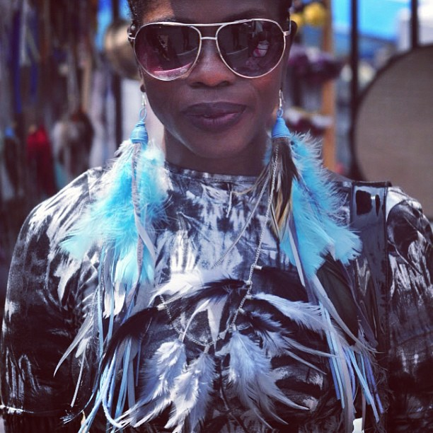 BAM 2012 #BAM #Brooklyn #streetfestival #jewelrydesigner #featherearrings #charmedfeathers #accessories #womensjewelry #earnecklace