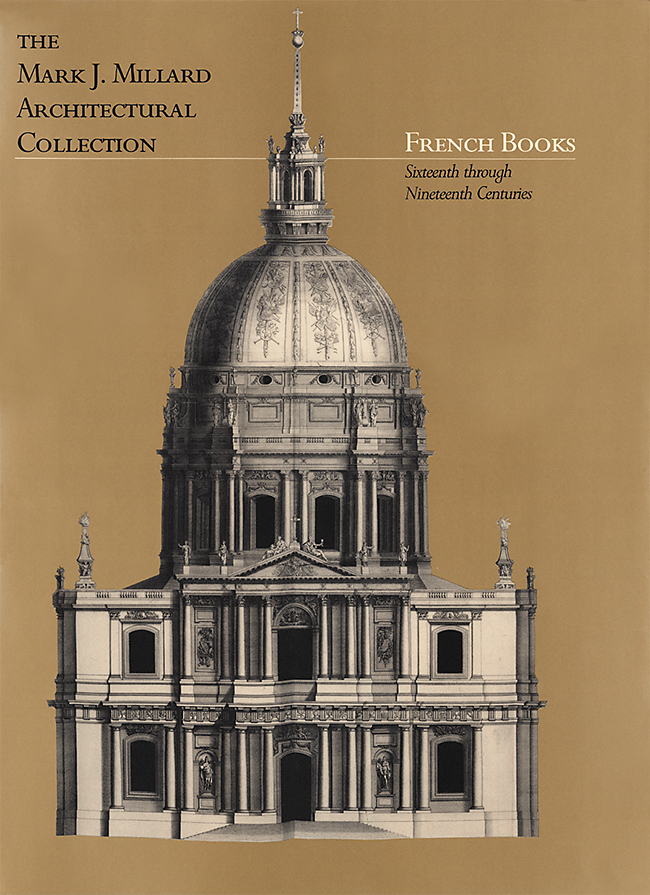 Mark J. Millard Architectural Collection (Vol. 1) French Books