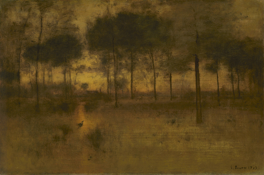 """The Home of the Heron,"" by George Inness. 30 by 45 inches, The Art Institute of Chicago, Edward B. Butler Collection. 1893"