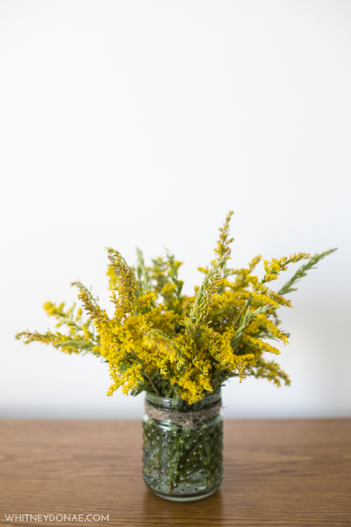 DIY Candle Jar into Vase