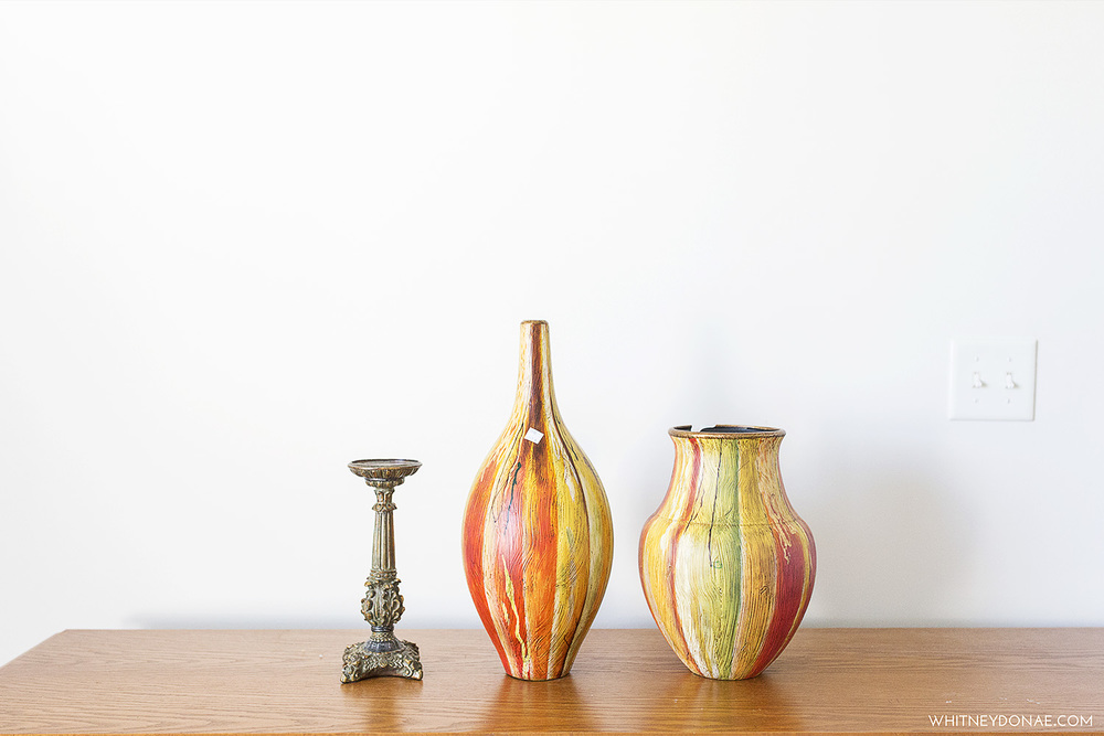 vases and candlestick