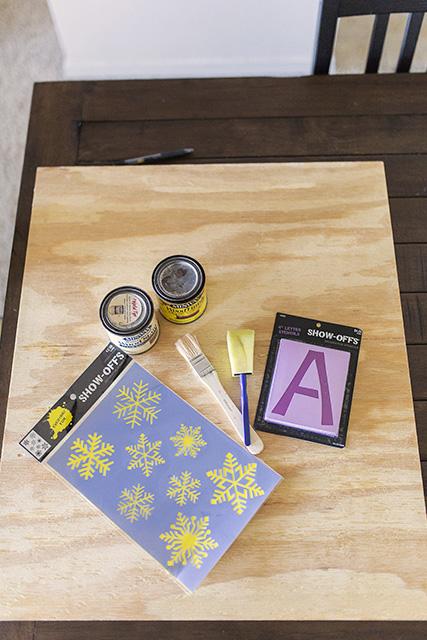 DIY Christmas Sign Craft Supplies