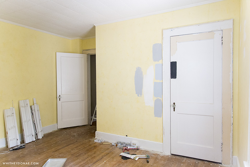 Master Bedroom Progress: New Wall & Color