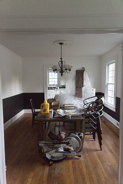 Pickens' Dining Room Before & After