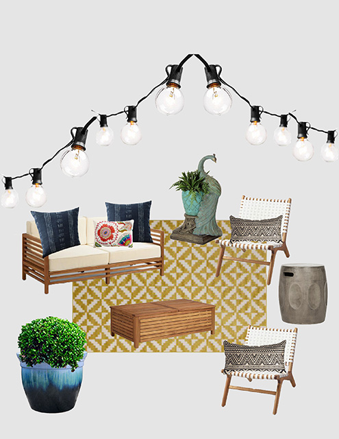 April Mood Board: Fun & Patterned Patio