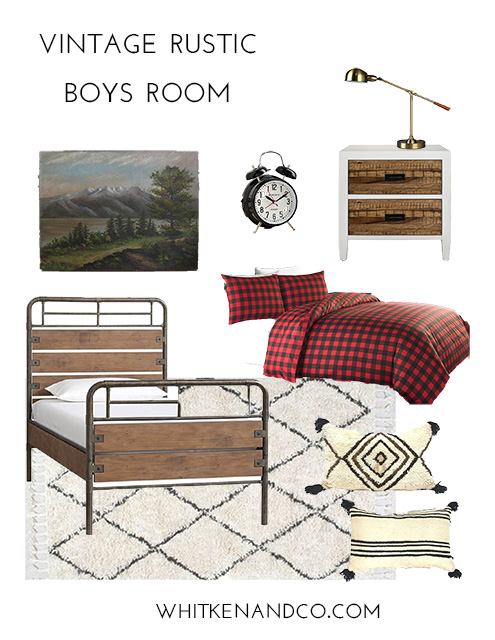 Vintage Rustic Boys Room