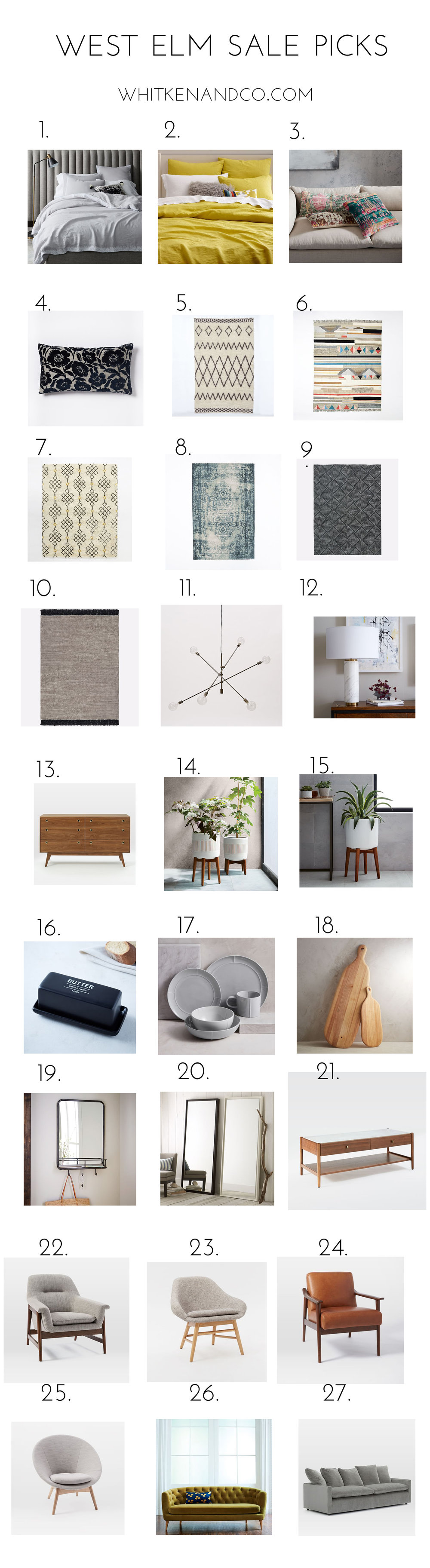West Elm Sale Picks from Whitken & Co.
